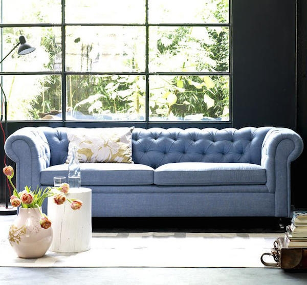 Light Blue Sofa Sky Sofa Light Blue Sofa Blue And White Living clearly pertaining to Blue Tufted Sofas (Image 13 of 20)