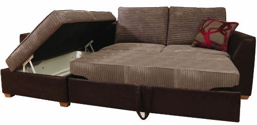 Lincoln Corner Sofa Bed With Storage Buy Online perfectly for Corner Couch Bed (Image 18 of 20)