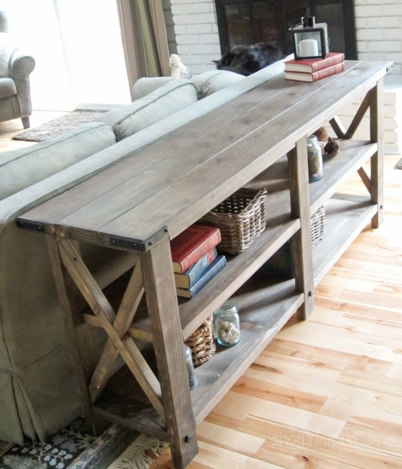 Living Room Ana White Rustic X Console Diy Projects For 6 Foot nicely with regard to 6 Foot Sofas (Image 10 of 20)