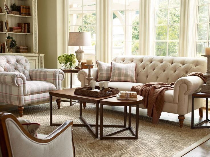 Living Room Furniture Fabric Sofas Richmond Traditional Tufted effectively in Traditional Fabric Sofas (Image 7 of 20)