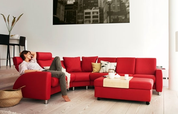 Living Room Ideas With Red Sofa Sl Interior Design Red Couch effectively in Red Sofas And Chairs (Image 14 of 20)