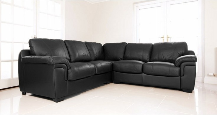 Living Room Top Corner Sofas U Shaped Modular Delux Deco Within nicely throughout Large Black Leather Corner Sofas (Image 15 of 20)