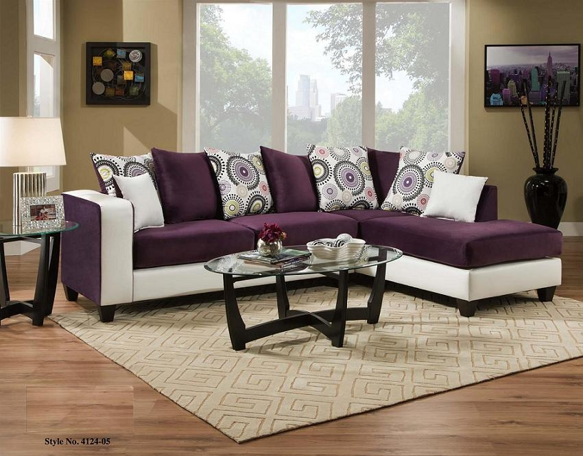 Living Rooms At Mattress And Furniture Super Center effectively with Eggplant Sectional Sofa (Image 7 of 20)
