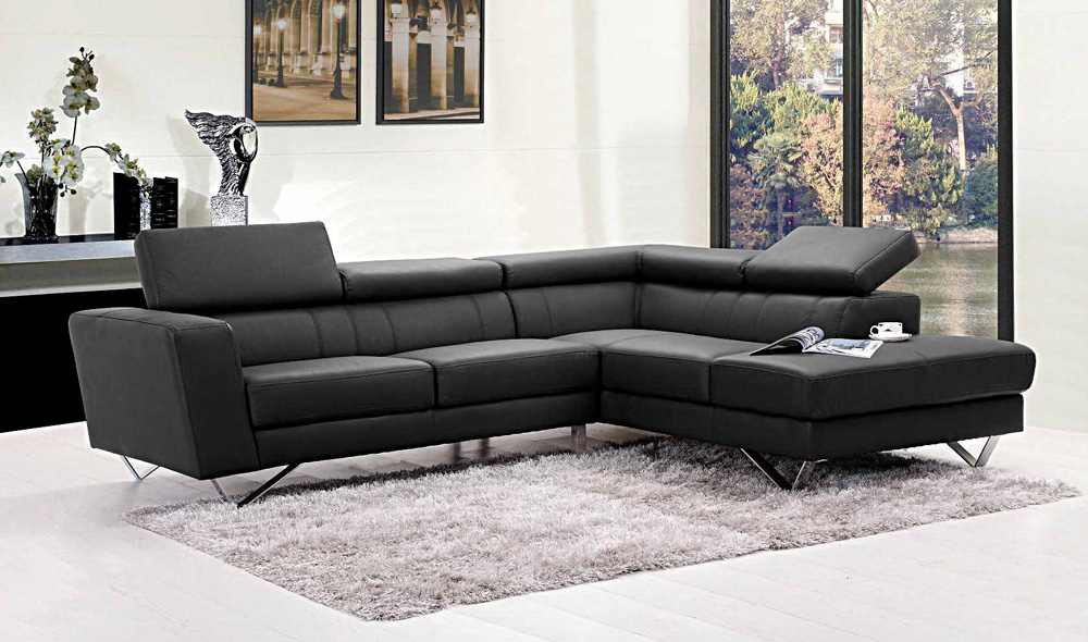 Liza Leather L Shaped Sectional Sofa Leather Sectionals clearly regarding Leather L Shaped Sectional Sofas (Image 15 of 20)