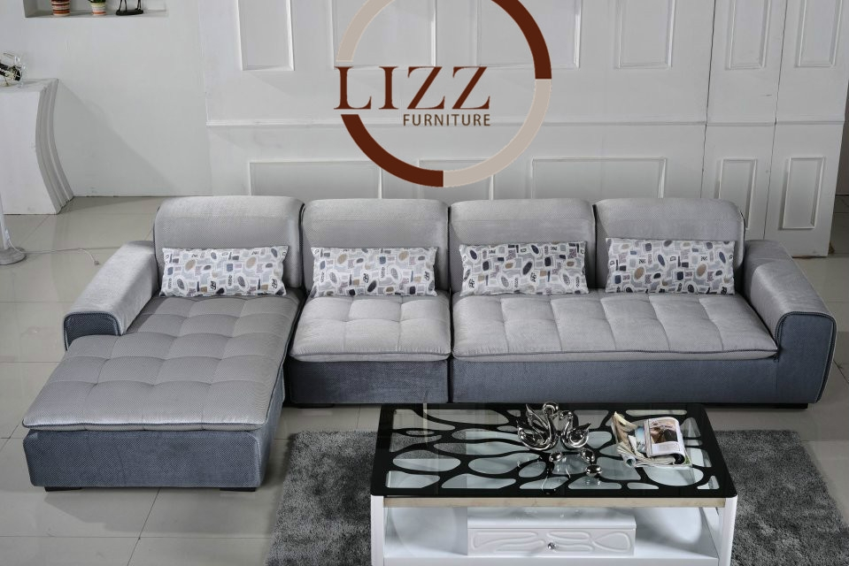 Lizz High Quality Fabric Sofa Living Room Sofa Af343 Living Room Very Well Intended For L Shaped Fabric Sofas (View 18 of 20)