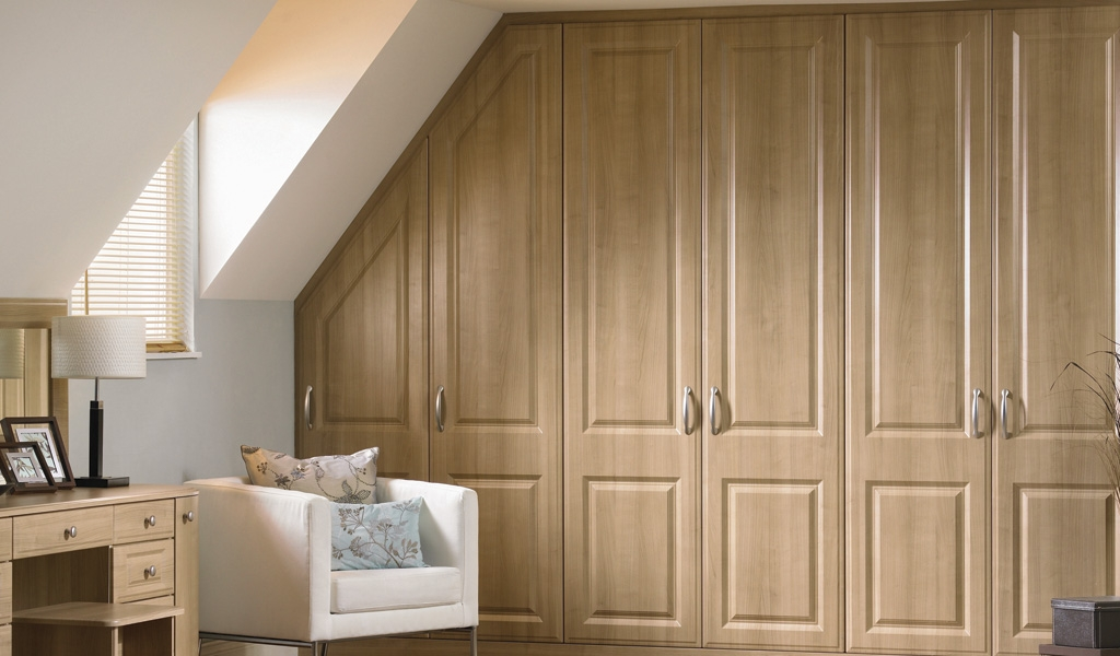 Loft Bedroom Fitted Wardrobes Design Ideas 2017 2018 Pinterest most certainly inside Solid Wood Built In Wardrobes (Image 9 of 20)