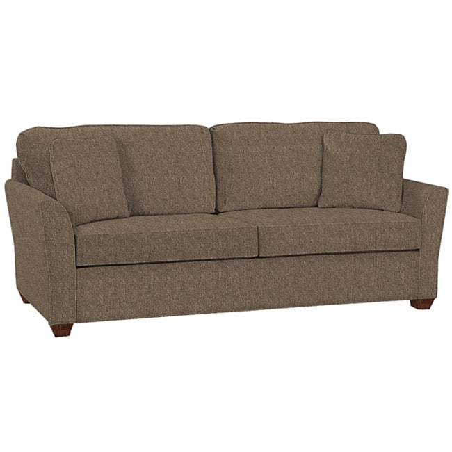 Logan Charcoal Tweed Fabric Sofa Free Shipping Today Overstock most certainly for Tweed Fabric Sofas (Image 15 of 20)