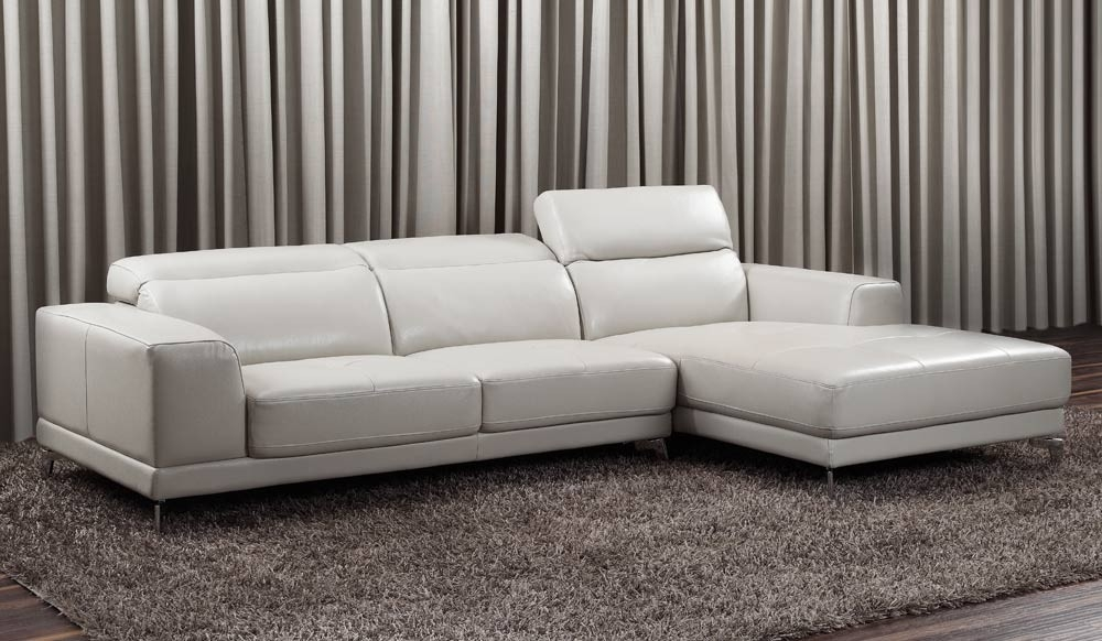 Lorenzo Small Top Grain Leather Corner Sofa With Adjustable Good Regarding Corner Sofa Leather (View 14 of 20)