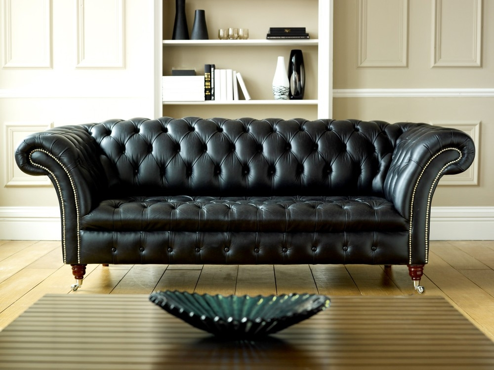 Lovable Chesterfield Tufted Leather Sofa Chesterfield Leather Sofa Clearly  Pertaining To Tufted Leather Chesterfield Sofas (