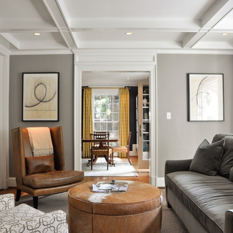 Love The Grey Sofa With Tan Leather Chair And A Lighter Grey On nicely pertaining to Grey Sofa Chairs (Image 17 of 20)