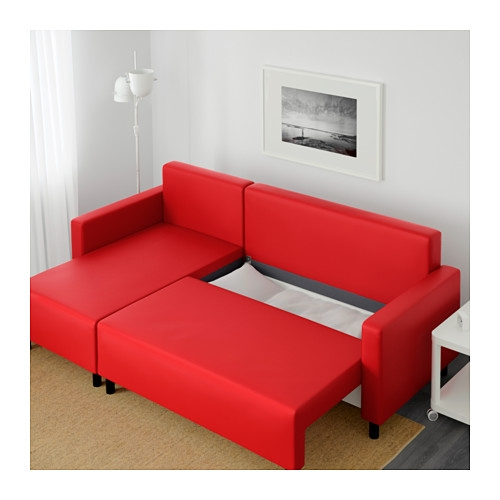 Lugnvik Sleeper Sectional 3 Seat Grann Red Ikea Good With Regard To Red Sofa Beds Ikea (View 2 of 20)
