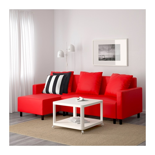 Lugnvik Sleeper Sectional 3 Seat Grann Red Ikea most certainly within Red Sofa Beds IKEA (Image 16 of 20)