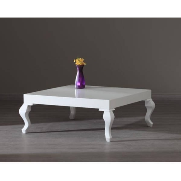 Lukens White Lacquer Contemporary Coffee Table Free Shipping perfectly inside Lacquer Coffee Tables (Image 12 of 20)