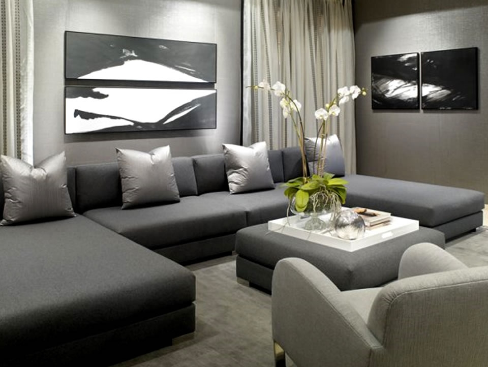 Luxury Sectional Sofa Furniture Design Donghia Showroom Dania nicely pertaining to Expensive Sectional Sofas (Image 9 of 20)