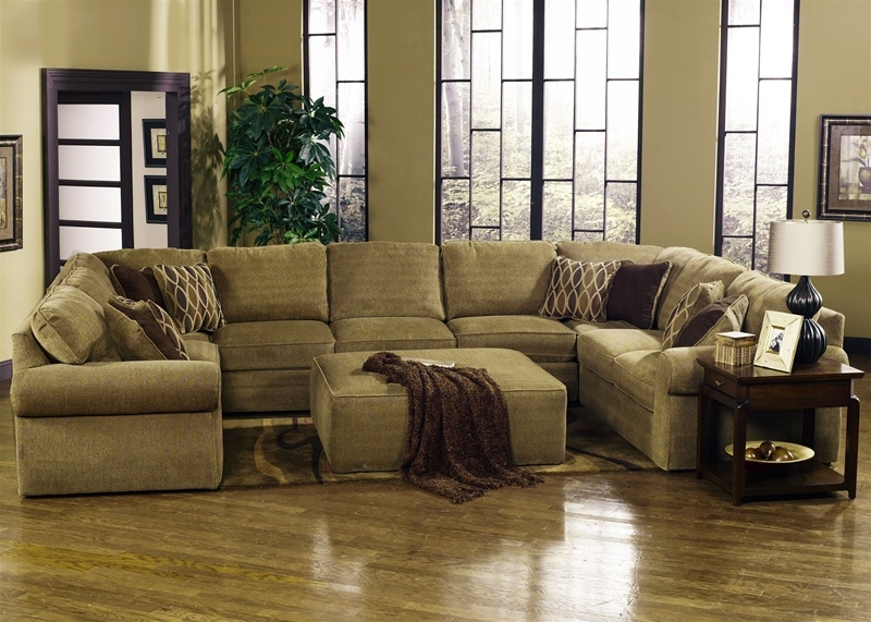 Magnitude 5 Piece Sectional In Desert Chenille Fabric Jackson well intended for Chenille Sectional Sofas (Image 12 of 20)