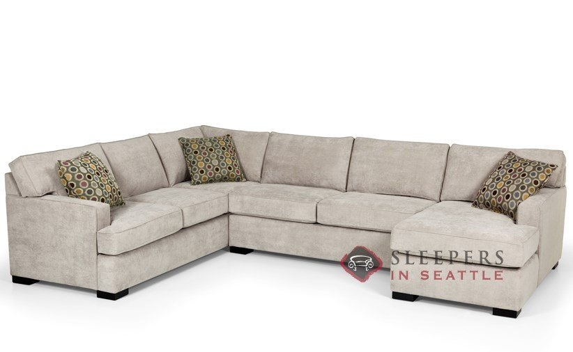 Maier Sienna Full Sleeper Sectional Righ Side Chaise Small nicely pertaining to Sectional Sofas With Sleeper And Chaise (Image 17 of 20)