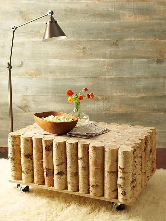 Make Your Very Own Diy Coffee Table Using Beautiful Birch Logs properly regarding Birch Coffee Tables (Image 16 of 20)