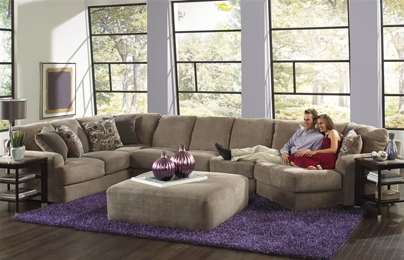 Malibu Taupe Adobe Or Sand Chenille Fabric Build Your Own Effectively Intended For Chenille And Leather Sectional Sofa (View 10 of 20)