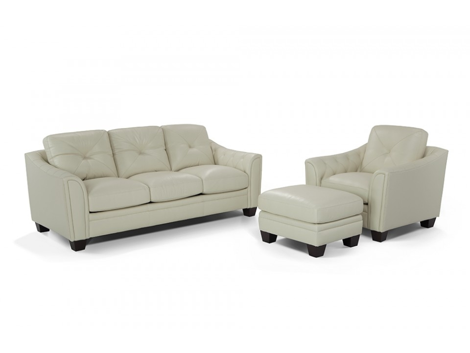 Marisol Leather Sofa Chair Ottoman Leather Sofas Ottomans properly with Sofa Chair And Ottoman (Image 9 of 20)