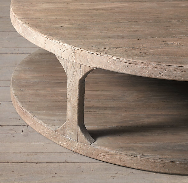 Martens Round Coffee Table 3 Feet Diameter 1015 Restoration Clearly Within Oversized Round Coffee Tables (View 13 of 20)