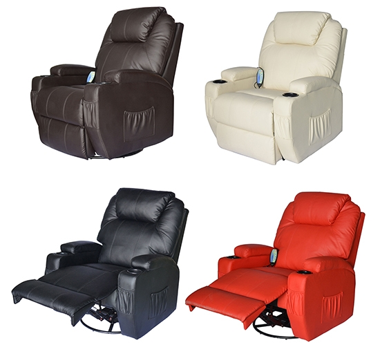 Massage Recliner Sofa Leather Vibrating Heated Chair Lounge well intended for Recliner Sofa Chairs (Image 11 of 20)