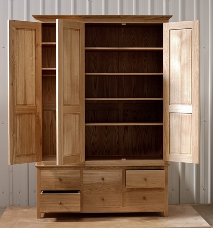 Matthew Wawman Cabinet Maker Bespoke Kitchen Maker And Designer nicely with Oak Wardrobe With Drawers and Shelves (Image 6 of 30)