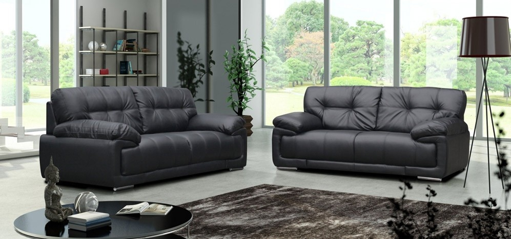 Maxim 3 2 Seater Black most certainly pertaining to Black 2 Seater Sofas (Image 14 of 20)