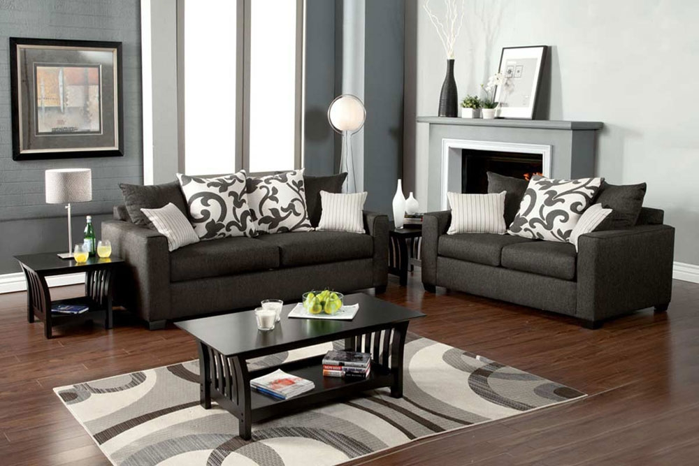 Medium Gray Sofa Set Fa3010 Fabric Sofas most certainly pertaining to Grey Sofa Chairs (Image 19 of 20)