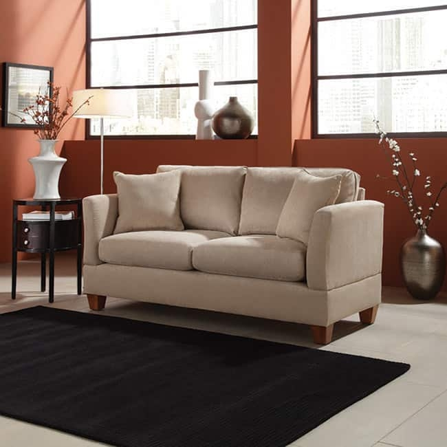 Microfiber 68 Inch Small Space Sofa Free Shipping Today most certainly within 68 Inch Sofas (Image 9 of 20)