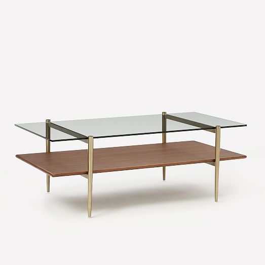 Mid Century Art Display Coffee Table West Elm clearly with Art Coffee Tables (Image 17 of 20)