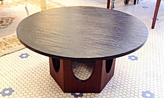 Mid Century Harvey Probber Slate Top Coffee Table Gorgeous Round most certainly inside Round Slate Top Coffee Tables (Image 13 of 20)