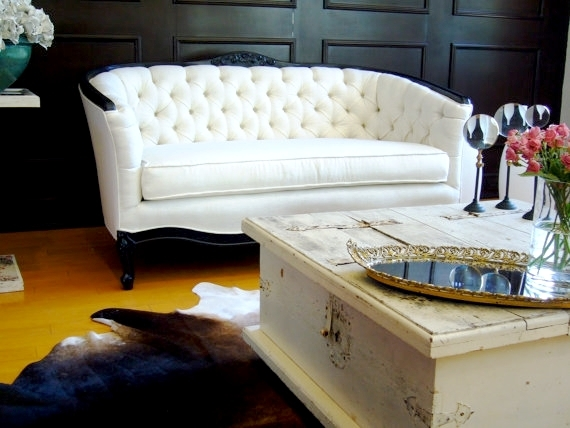 Midtown Girl Decor Fabulush Tufted White Linen Sofa Midtown Girl properly pertaining to Tufted Linen Sofas (Image 13 of 20)