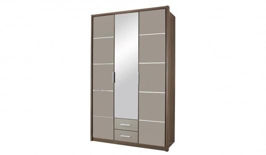 Mirabel 3 Door 2 Drawer 1 Mirror Wardrobe Bensons For Beds good with 2 Door Wardrobe With Drawers and Shelves (Image 5 of 30)