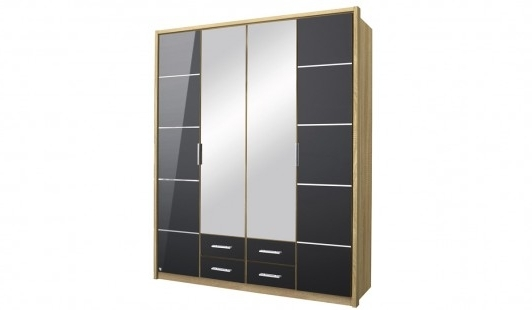 Mirabel 4 Door 4 Drawer 2 Mirror Wardrobe Bensons For Beds perfectly with regard to 2 Door Wardrobe With Drawers And Shelves (Image 25 of 30)