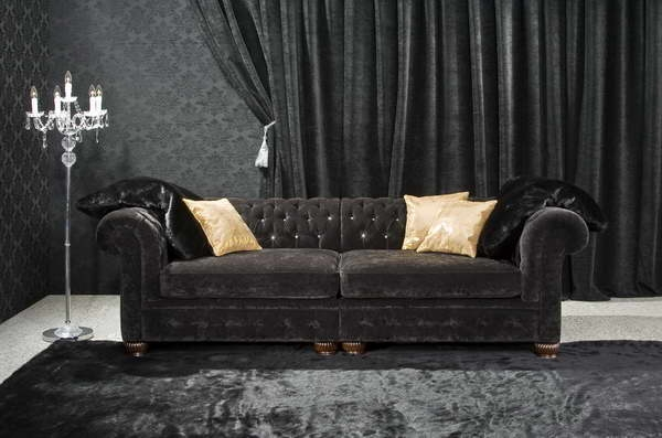 Miscellaneous How To Decorate Your Living Room With Black Velvet effectively inside Black Velvet Sofas (Image 13 of 20)