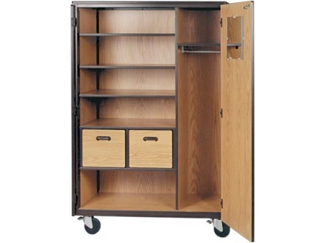 Mobile Wardrobe Storage Closet 3 Shelves 2 Drawers 72h Irw clearly pertaining to Wardrobe With Shelves And Drawers (Image 14 of 30)