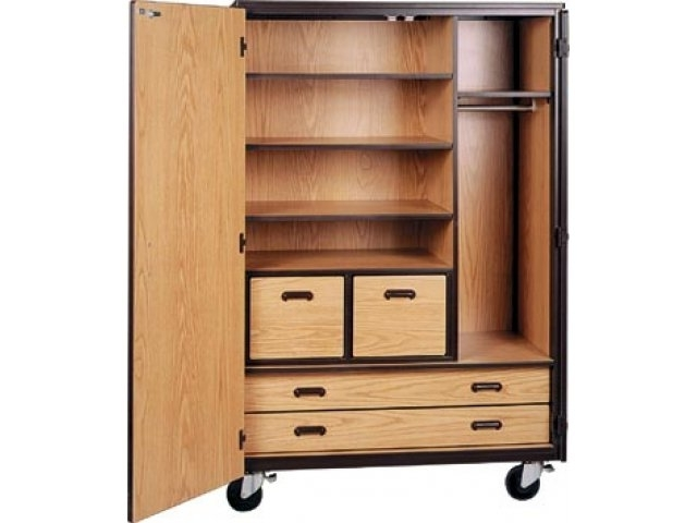 Mobile Wardrobe Storage Closet 3 Shelves 4 Drawers 72h Irw effectively intended for Double Wardrobe With Drawers And Shelves (Image 3 of 30)