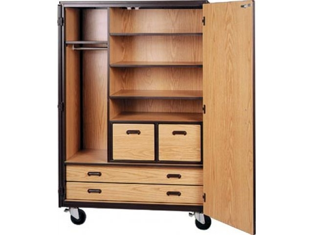 Mobile Wardrobe Storage Closet 3 Shelves 4 Drawers 72h Irw well for Wardrobes With Shelves and Drawers (Image 7 of 20)
