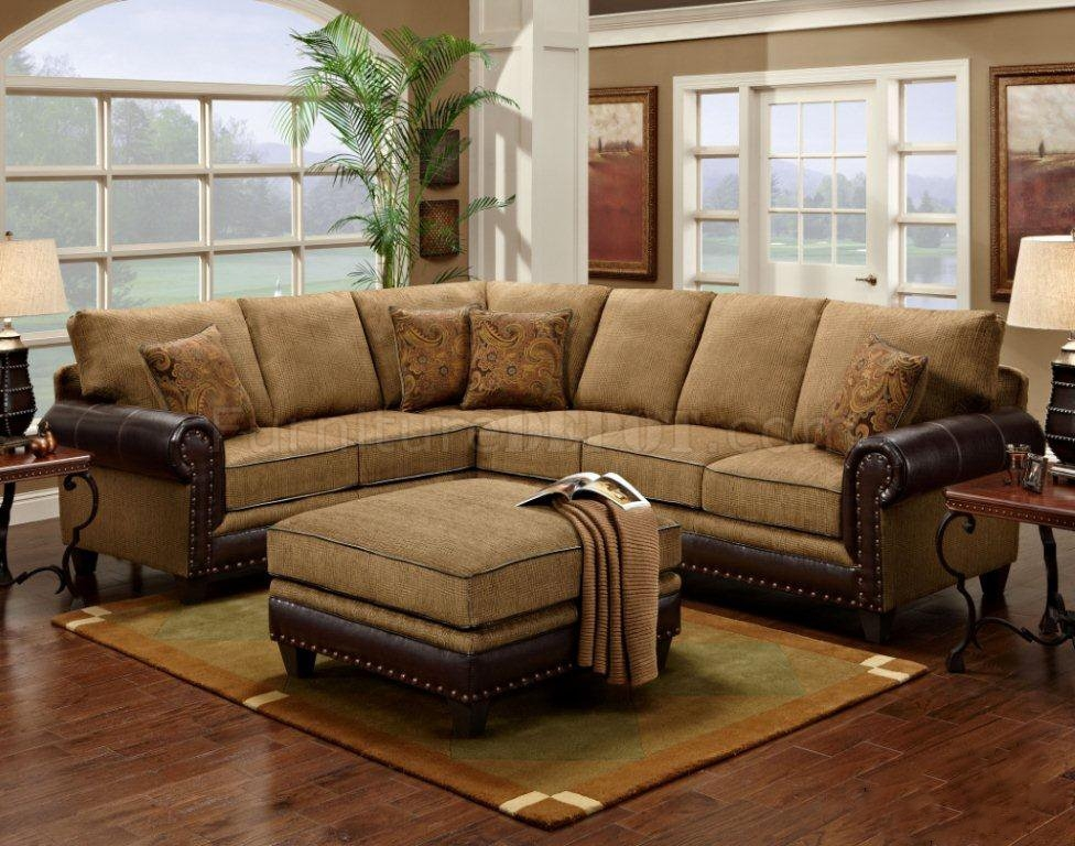 Mocha Fabric Classic Sectional Sofa Woptional Ottoman certainly with Classic Sectional Sofas (Image 9 of 20)