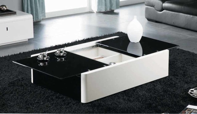 Modern Black And White Coffee Table With Storage Aosta Modern most certainly with regard to White Coffee Tables With Storage (Image 9 of 20)