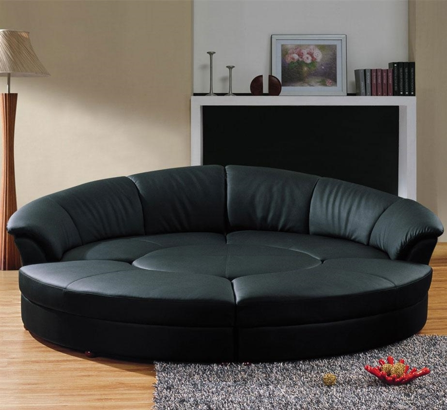 Modern Circle Sectional Sofa Set With Table Black Tos Lf 6722 Bl Most Certainly In Circle Sectional Sofa (View 15 of 20)