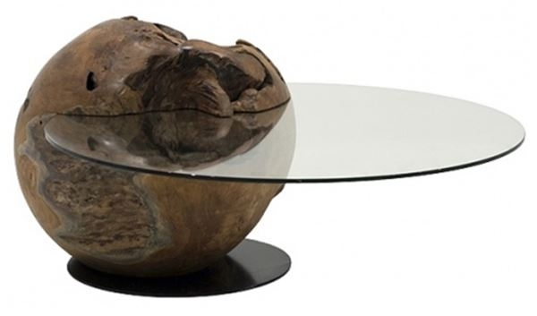 Modern Coffee Organic Table With Floating Glass Natural certainly pertaining to Floating Glass Coffee Tables (Image 12 of 20)