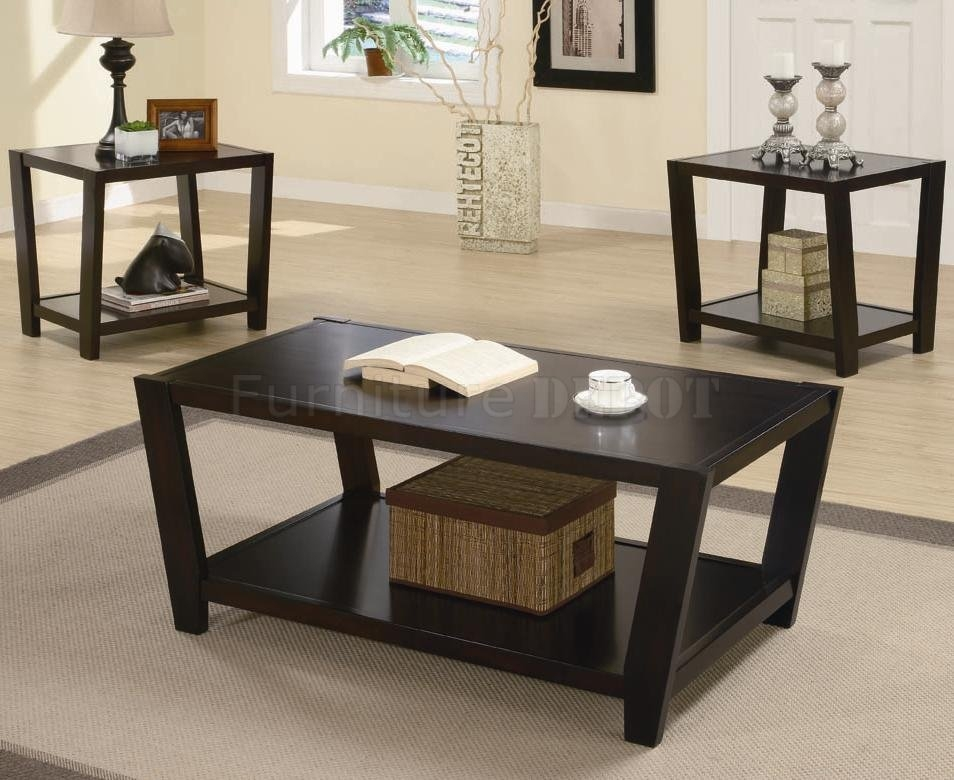Modern Coffee Table Set clearly inside Contemporary Coffee Table Sets (Image 15 of 20)