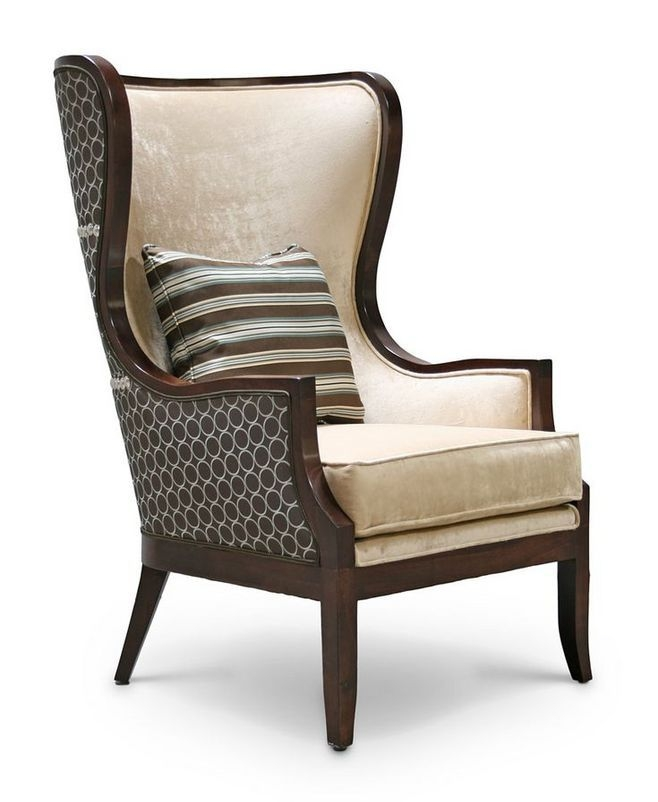 Modern Design High Back Sofa Armchair Velvet With Cushion well inside High Back Sofas and Chairs (Image 14 of 20)