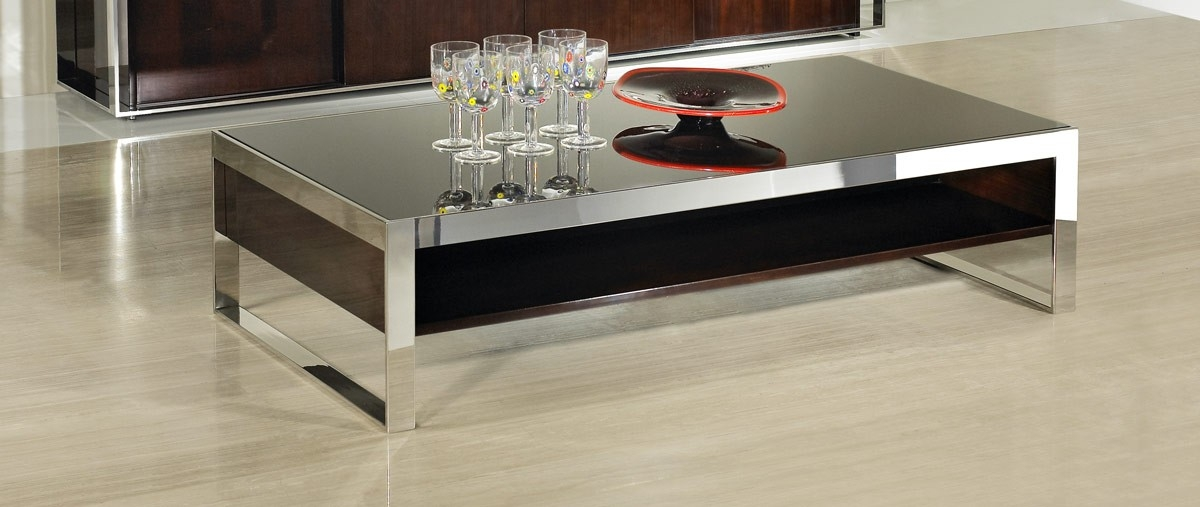 Modern Ebony Lacquer Coffee Table nicely intended for Lacquer Coffee Tables (Image 13 of 20)