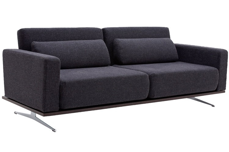 Modern Grey Sofabed Sleeper Venus King Couch Futon The Futon Shop perfectly regarding Convertible Sofa Chair Bed (Image 18 of 20)