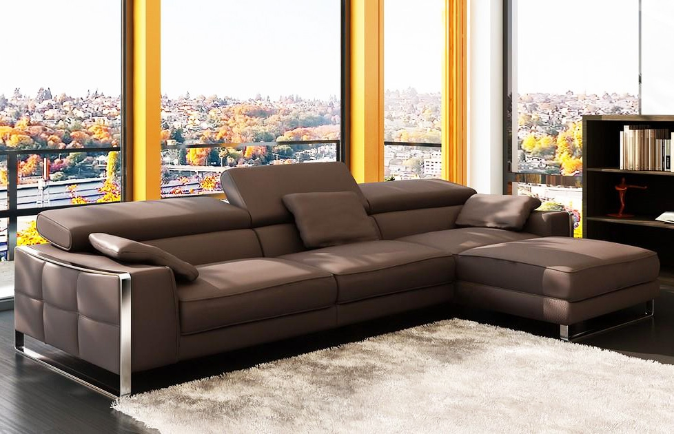 Modern Leather Sectional Sofa Flavio Leather Sectionals most certainly pertaining to Modern Sofas Sectionals (Image 12 of 20)