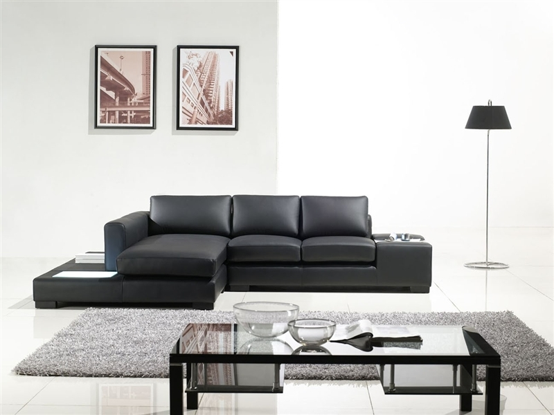 Modern Leather Sectional Sofas effectively pertaining to Gray Leather Sectional Sofas (Image 12 of 20)