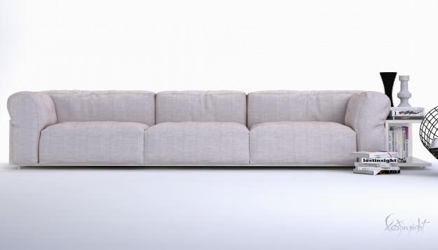 Modern Long Sofa 3d Model Max clearly throughout Long Modern Sofas (Image 18 of 20)