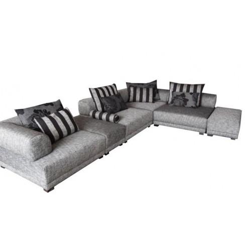 Modern Luxury Corner Sofa Washable Cotton And Linen Cloth Down Sofa good regarding Washable Sofas (Image 8 of 20)